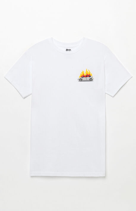 Flaming Car T-Shirt