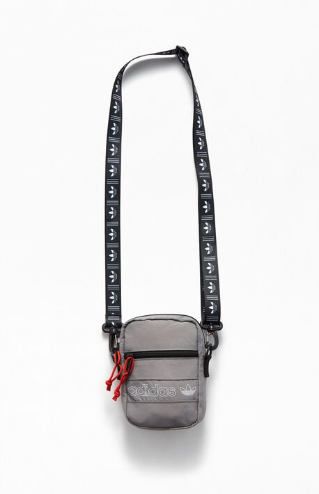Gray Festival Crossbody Bag