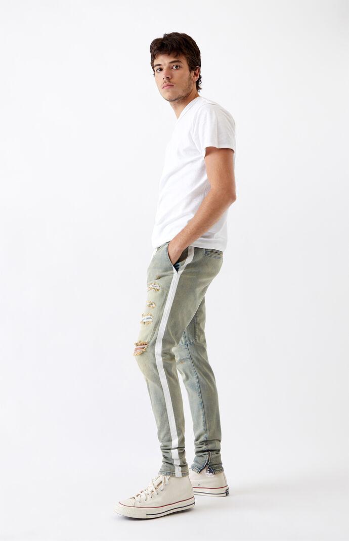 Side Stripe Drop Skinny Jogger Pants