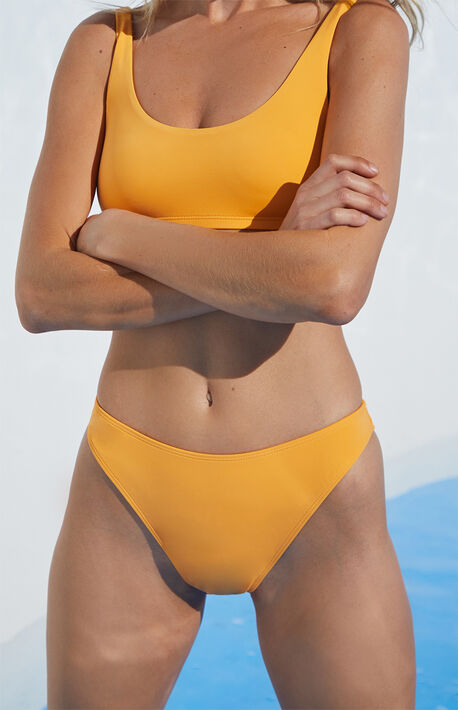 Orange Dixie High Waisted Bikini Bottom