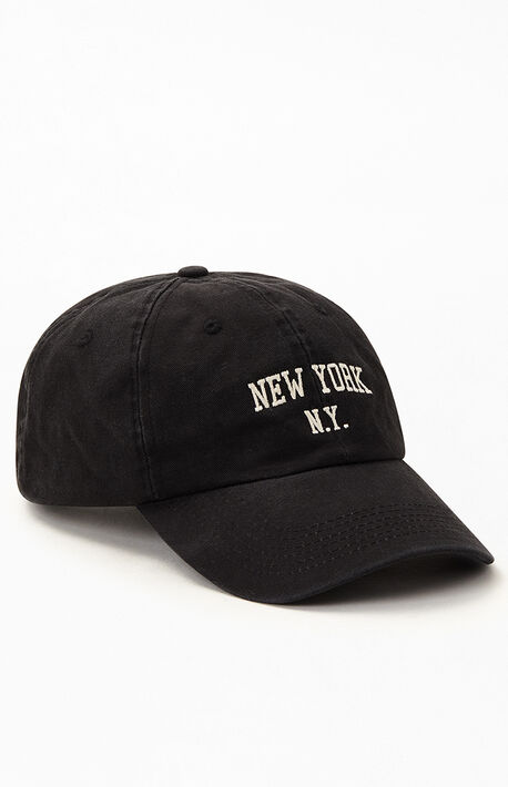 Black New York Dad Hat