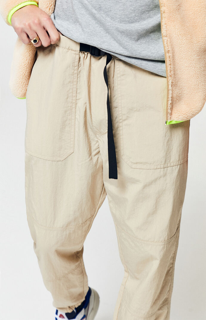 Khaki Nylon Tactical Jogger Pants