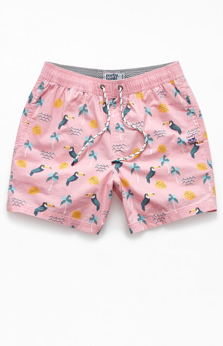 "Talk Tropic 16"" Swim Trunks"