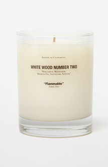 White Wood 2 Candle