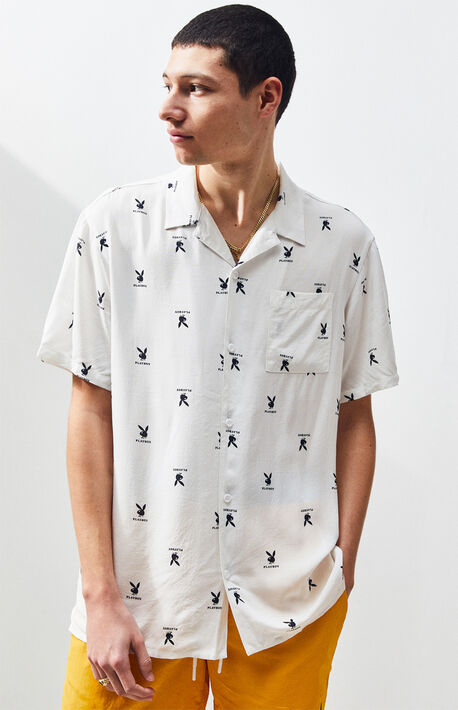 9367e530c7f x Playboy Mini Logo Button Up Shirt
