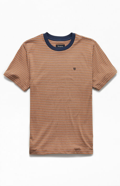 Brown Hilt Striped T-Shirt