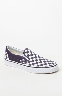 Women's Checkerboard Slip-On Sneakers