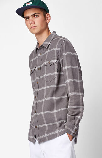Wayland II Plaid Flannel Long Sleeve Button Up Shirt