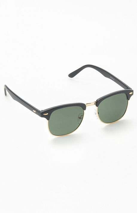 Fifty-Fifty Black & Gold Sunglasses