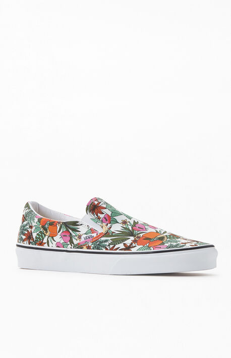 White Classic Slip-On Sneakers