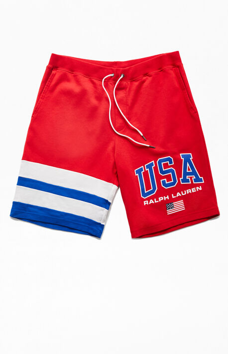 a1a3a69eb7 Chariots USA Sweat Shorts. Polo Ralph Lauren Chariots USA Sweat Shorts.  125.0. $125.00. New Arrival
