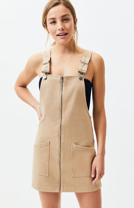 aed07efee677 Zip Front Overall Dress · Kendall   Kylie Zip Front Overall Dress