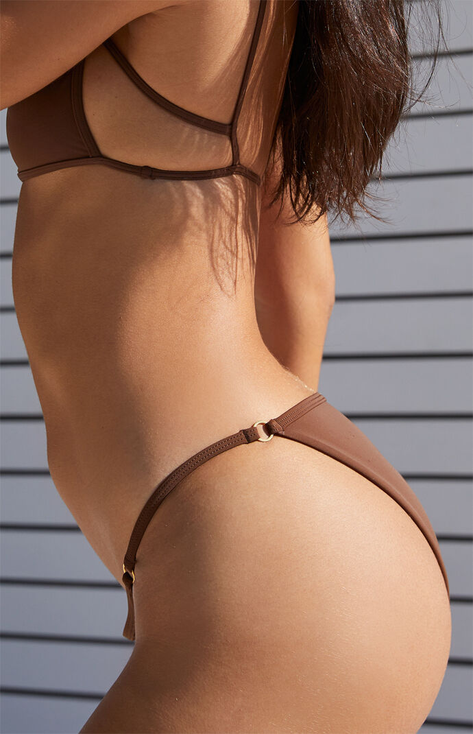 Brown Drea Ring Binded Bikini Bottom