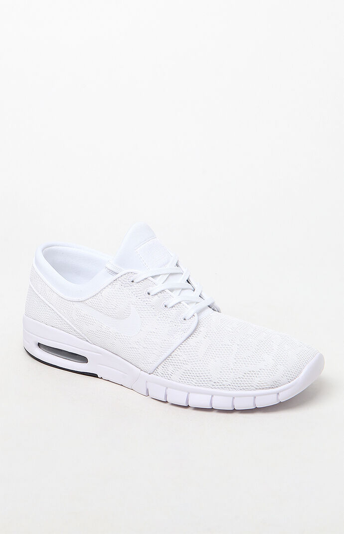 Nike SB Stefan Janoski Max White Shoes at PacSun.com 952b7ba96ce4