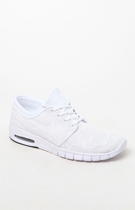 detailed look a64b6 b7c50 Stefan Janoski Max White Shoes