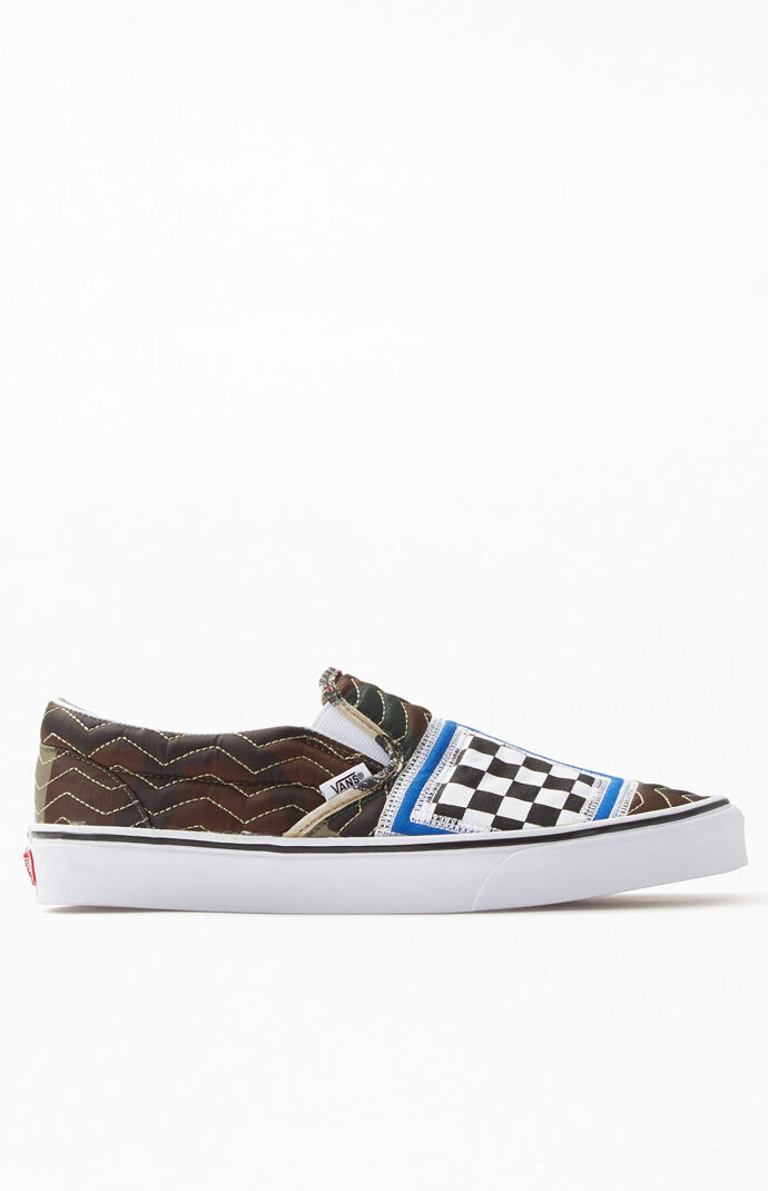 Mixed Quilting Slip-On Shoes