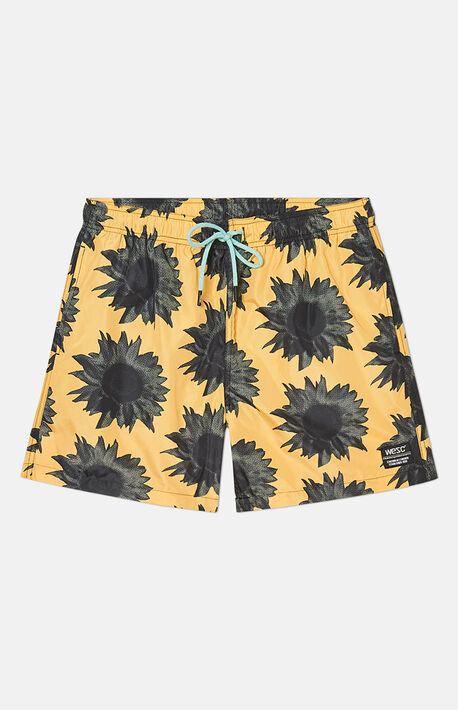 Zack Sunflower Swim Trunks