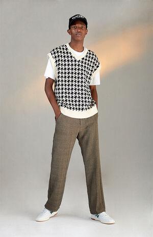 Plaid Bootcut Menswear Pants