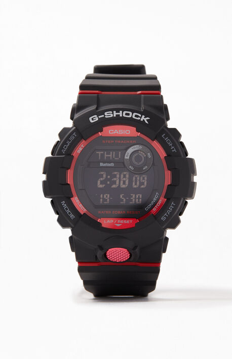 Black & Red Digital Resin Watch
