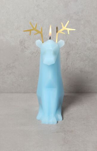 Blue Dýri Reindeer Candle