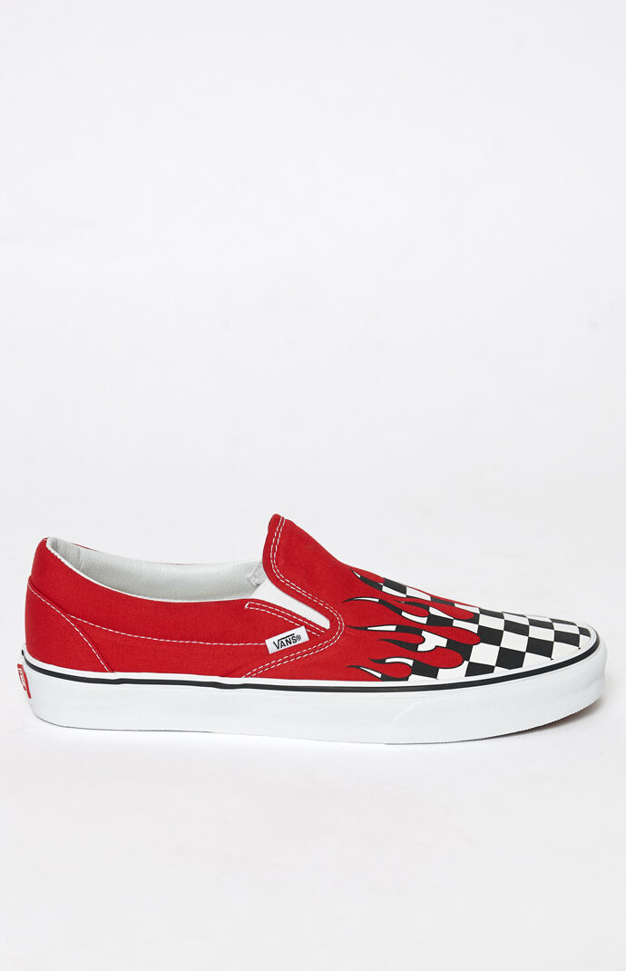 ec3ccc4aea65 Vans Checker Flame Classic Slip-On Shoes