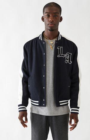 LA Patch Varsity Jacket image number null