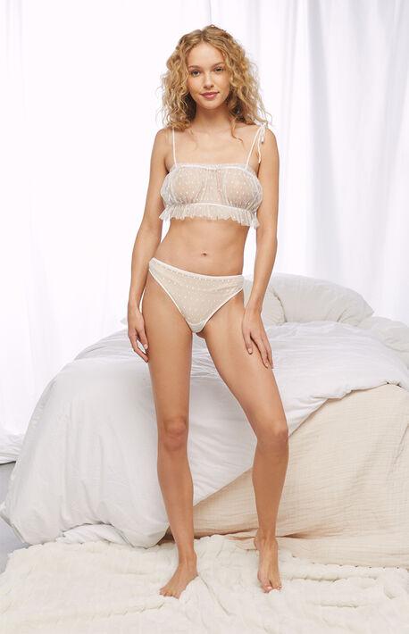 Mesh Bralette & Panty Two-Piece Set