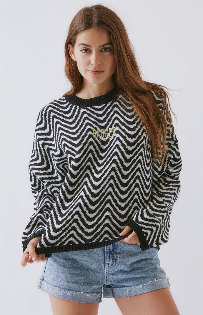 Wave Jacquard Knit Sweater