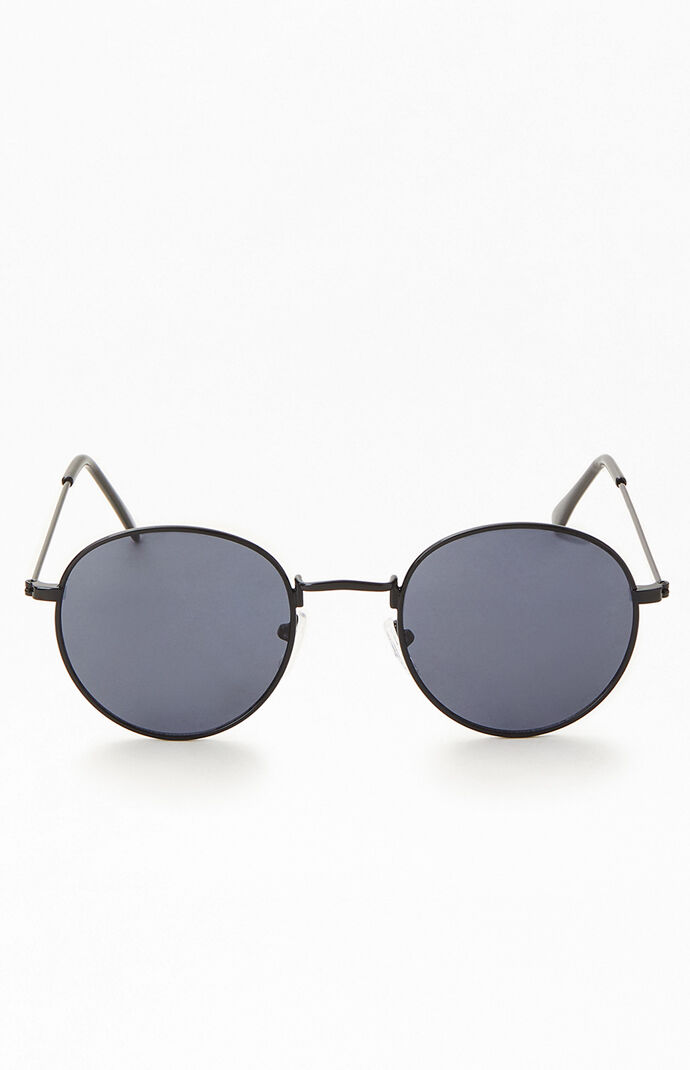Black Lennon Round Sunglasses