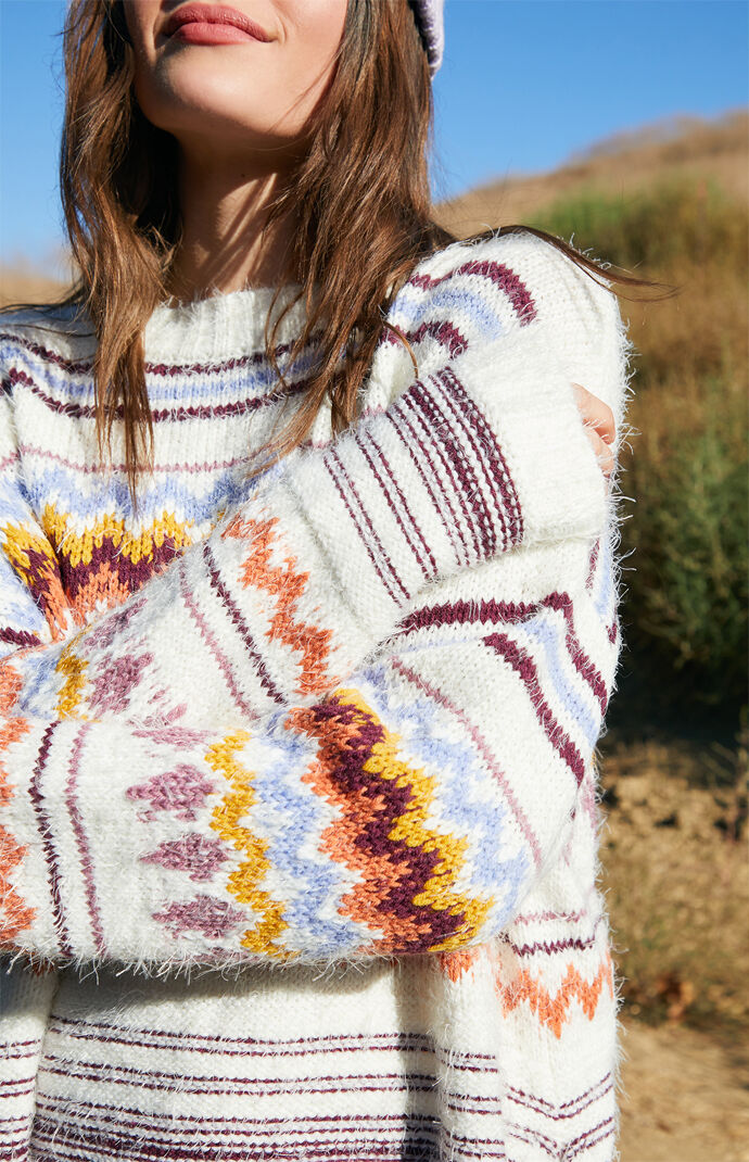 Fuzzy Fairisle Sweater