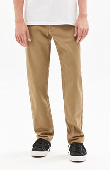 Straight Comfort Stretch Khaki Jeans