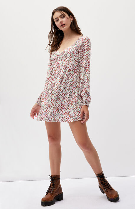 Cinched Front Babydoll Dress