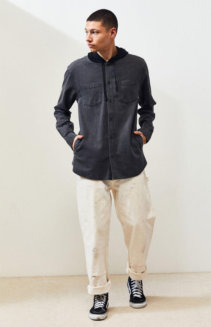 Codi Hooded Denim Shirt