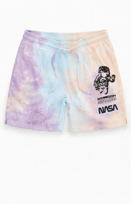 NASA Tie-Dyed Sweat Shorts