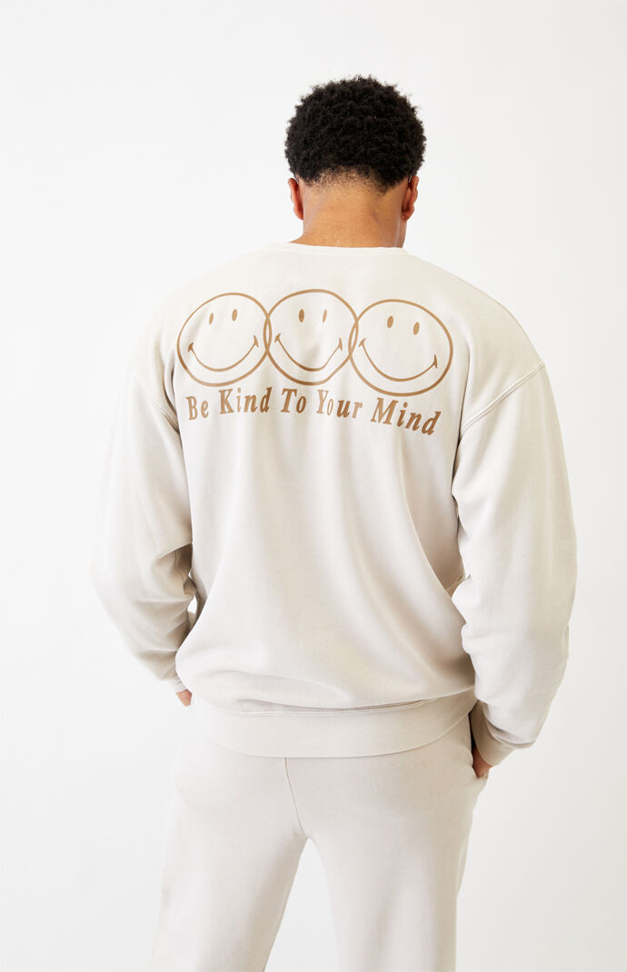 Smiley Self Care Crew Neck Sweatshirt