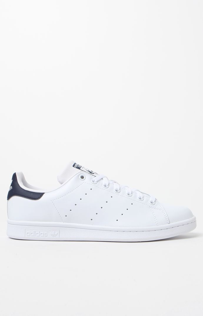 155eb5ea86 adidas Stan Smith White and Blue Shoes at PacSun.com