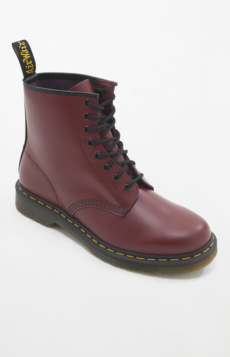 1460 Smooth Leather Cherry Red Boots