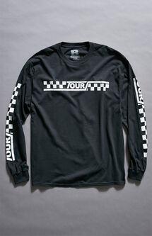 Justin Bieber Stadium Tour Checker Long Sleeve T-Shirt