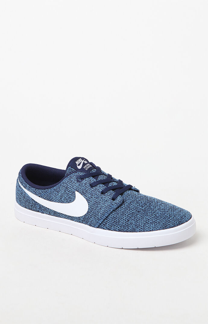 Nike SB Portmore II Ultralight Blue and White Shoes at PacSun.com 25101719d