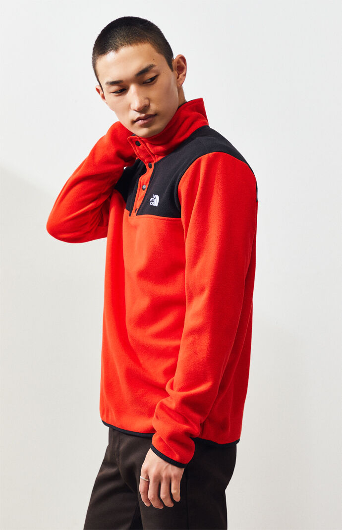 Red Glacier Snap-Neck Pullover