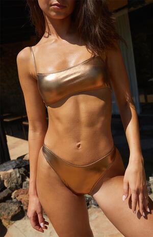 Caramel Candice Chrome Bikini Top image number null