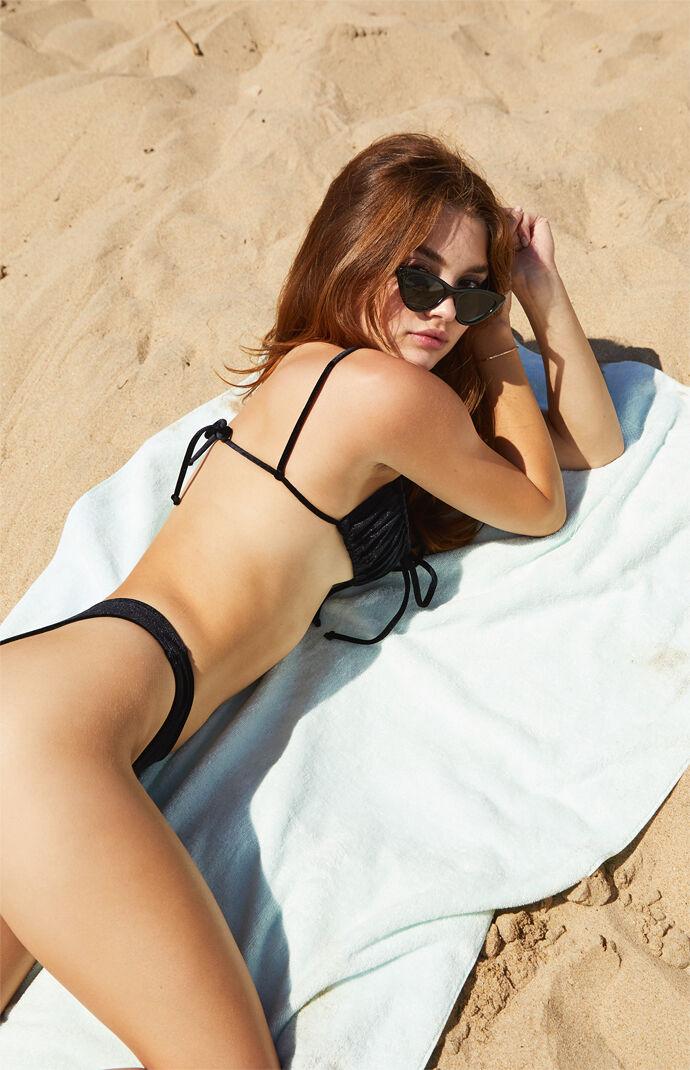 Black Velvet Jaye Channel Bikini Top