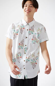 Lite Blossom Short Sleeve Button Up Shirt