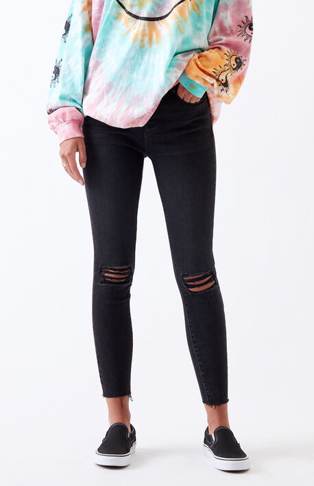 Black High Waisted Jeggings