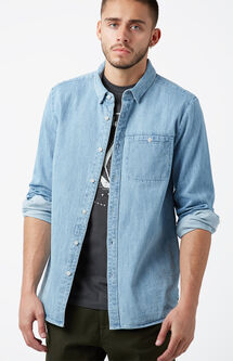 Crowley Denim Long Sleeve Button Up Shirt