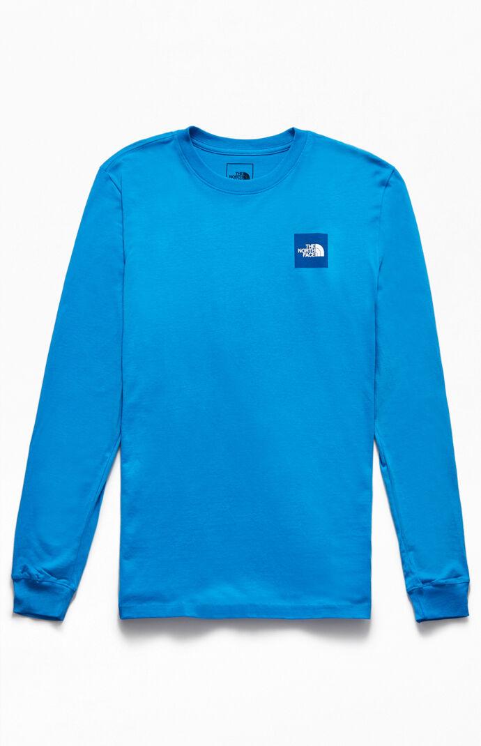 Blue Red Box Long Sleeve T-Shirt