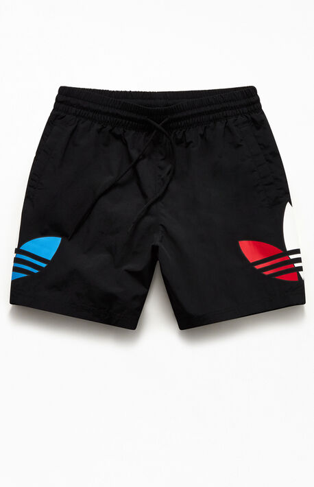 "Recycled Tricolor 17"" Swim Trunks"