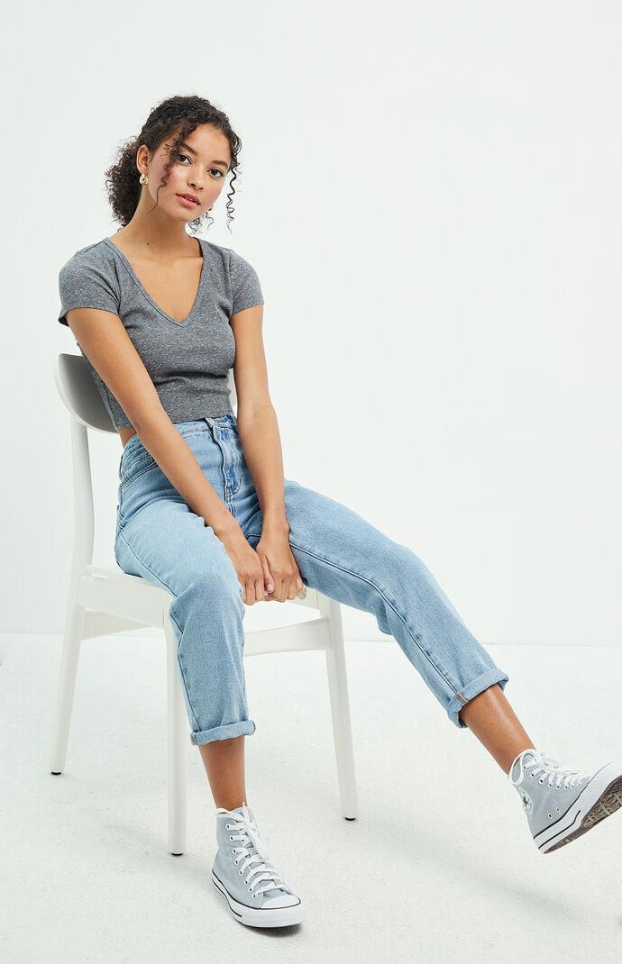 Megan Blue Mom Jeans