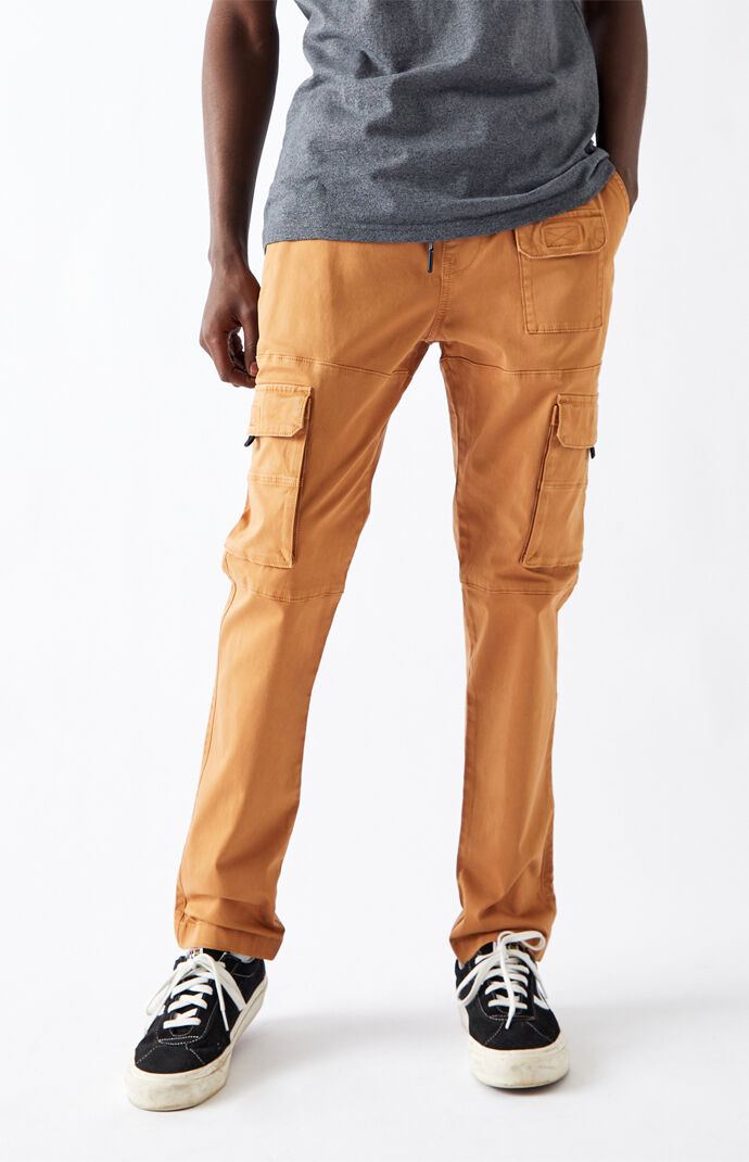 Utility Brown Slim Cargo Pants