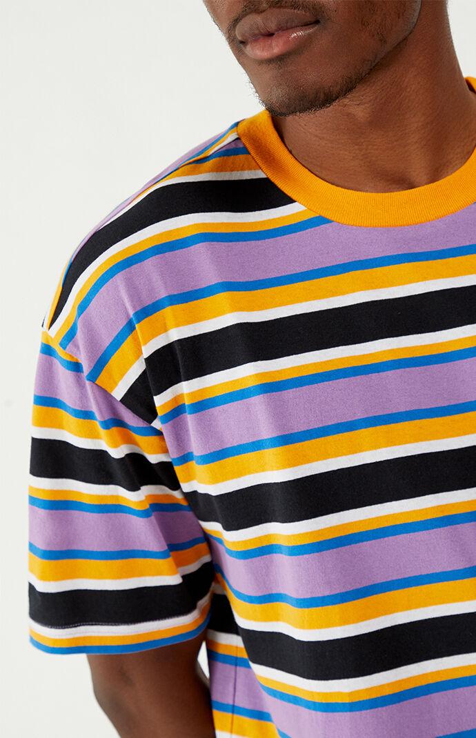 Striped Knit Boxy T-Shirt